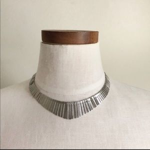Free People boho Silver Necklace NWT